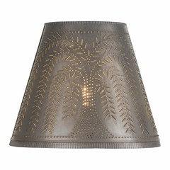 Punched Tin Pendant Shade Light - Mediterranean - Pendant Lighting - by Saving Shepherd
