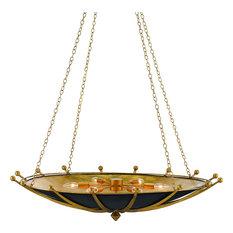 Fontaine Chandelier, Antique Gold Leaf, Contemporary Gold Leaf, Satin Black