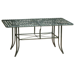 traditional outdoor dining tables by caravan