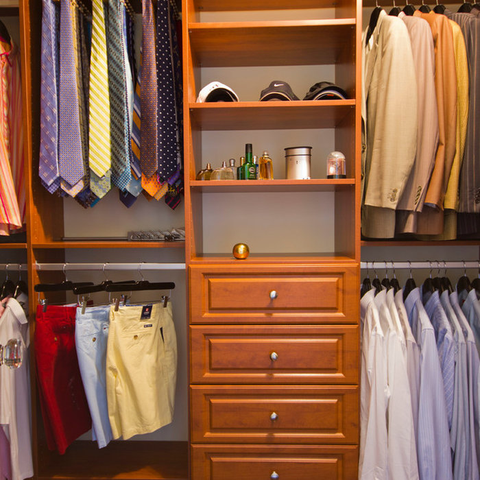 Bella Systems offered Tie and Belt Racks to keep everything in order