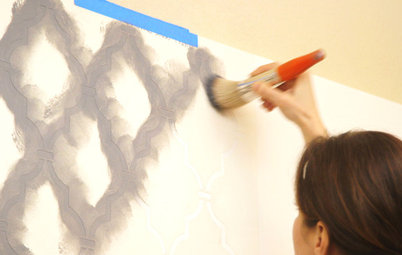 Houzz TV: How to Stencil a Wall