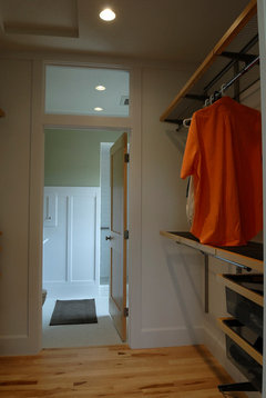 When We Laid Out The Space, We Had The Choice Of Either Walking Through The  Bathroom Or Walking Through The Closet. We Chose The Closet For Privacy And  Are ...