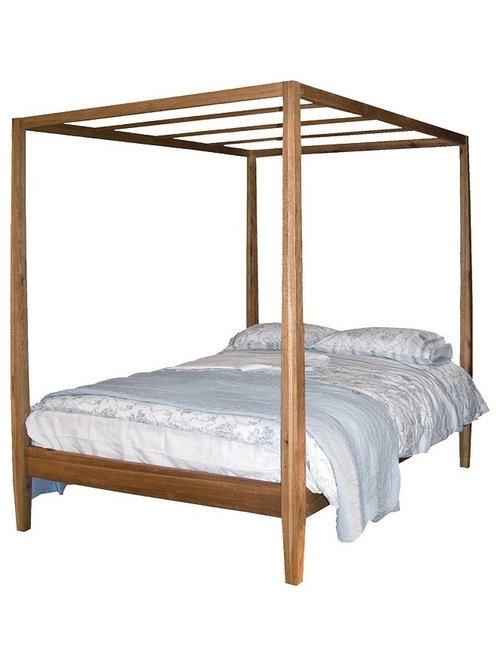 ブルックリンオーク 4ポスター ベッド - キャノピーベッド