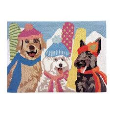 "- Frontporch Ski Bunnies Rug, Multi, 24""x36"" - Doormats"