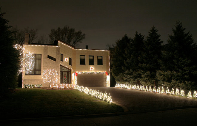 Modern Exterior by Light Up Your Holidays