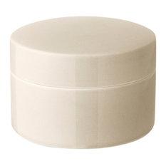 Anne Black Contain Jar, Low, Cream, Medium