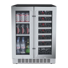 24' Built in Wine Cooler 60 Can 21 Bottle Dual Zone Wine/Beverage Cooler