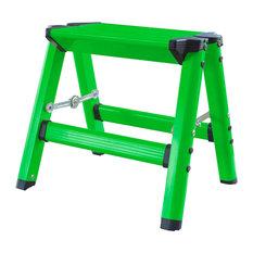 AmeriHome Lightweight Single Step Aluminum Step Stool, Bright Green