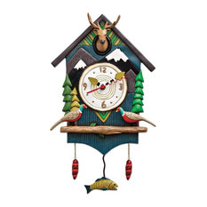 Allen Designs, Mountain Time, Pendulum Childs Kids Whimsical Wall Clock