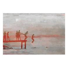 """Jump In Lake"" Fine Art Canvas Print, 60""x40"""