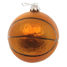 holiday ornament holiday ornament sports ball glass christmas athletic 68653 basketball christmas ornaments