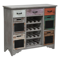 Wooden Wine Rack and Storage Unit, Multicoloured