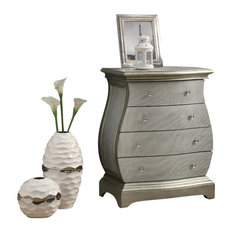 Monarch   Sleek Beautiful Style Brushed Gold Contemporary Bombay Chest  Furniture I3892   Accent Chests And