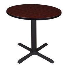 Cain 30-inch Round Breakroom Table- Mahogany