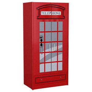 London Telephone Booth Wardrobe