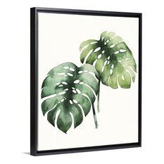 """Tropical Plant I"" Floating Frame Canvas Art, 26""x32""x1.75"""