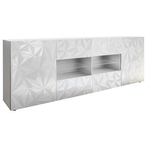 Prisma Decorative Sideboard, 241 cm, White