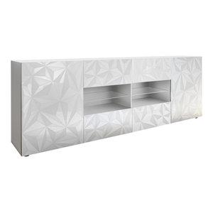 Prisma Decorative Sideboard, 241 cm, White