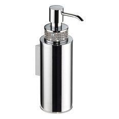 hispania bath carmen wall soap dispenser swarovski crystal and poiished chrome soap u0026