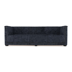 Hudson 8' Crushed Velvet Sofa Blue Print