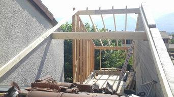 Réalisation/création d'une surélévation et extension en bois d'une maison
