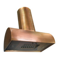Range Hood #38-Cu, Burnished Copper, 30, Island Mount
