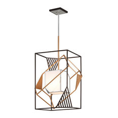 "Troy Lighting F6086 Cubist Single Light 21-3/4"" Chandelier"