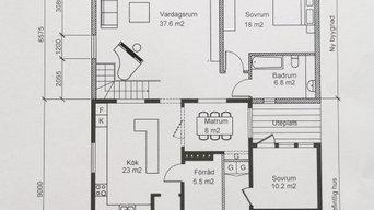till-,utbyggnad av villa