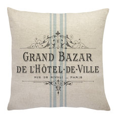 French Grain Sack Linen Throw Pillow