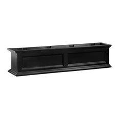 Mayne Fairfield 4ft Weatherproof Traditional Plastic Window Box in Black