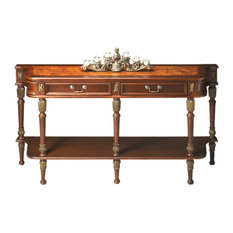 Butler Specialty Company - Butler Home Decor Console Table, Finish Type Light Butler Home Decor Hallmark - Console Tables
