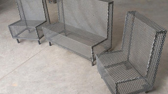 perforated metal outdoor seating