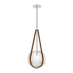 Eurofase Rosemount, One Light Orb Pendant, Chrome Finish with Clear Glass
