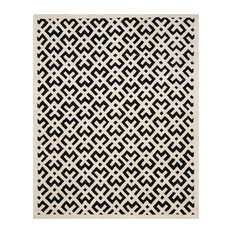 Safavieh Chatham Collection CHT719 Rug, Black/Ivory, 8'x10'