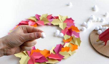 DIY: Einen fröhlichen Herbstkranz aus Papier basteln