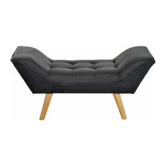 Modern Chaise Longue With Oak Finished Wooden Legs, Perfect for Your Comfort