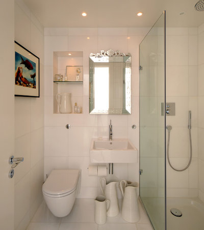 How to make a small bathroom feel bigger and brighter How to make a small bathroom look larger