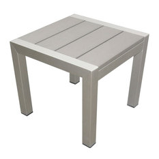 Outdoor Side Table, Gray