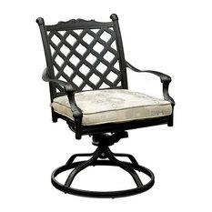 Chiara I Metal Swivel Rocker Chair, Set of 2