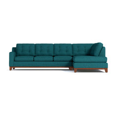 Brentwood 2-Piece Sectional Sleeper Sofa, Chicago Blue, Chaise on Right