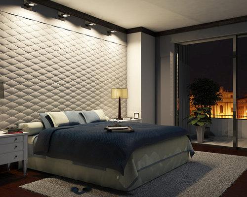 Rivestimento parete camera da letto con pannello 3d berna for Parete testiera letto
