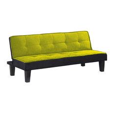 Flannel Fabric Adjustable Sofa, Green