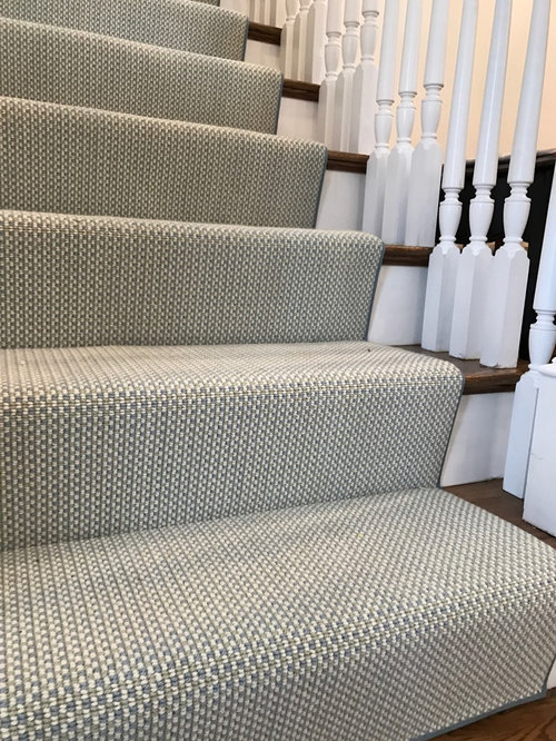 Wool Carpet Remnant Stair Project