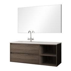 Neo 2-Drawer Bathroom Vanity Unit, Britannia Finish, 100 cm