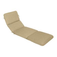 """Sunbrella Chaise Cushion, Spectrum Sand, 74""""x23""""x3.5"""", Hinged at 46"""""""