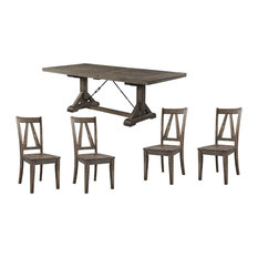 Flynn Dining Table With 4 Wooden Side Chairs
