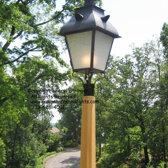 Sheryl's Post Mounted Gas Lanterns