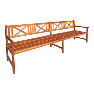 vidaXL Garden Bench, Solid Acacia Wood, Brown, 240x56x90 cm