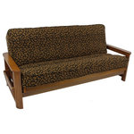 patterned tapestry 8 to 9   full futon cover cheetah lifestyle covers   genuine denim futon cover   view in your room      rh   houzz
