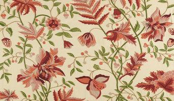 Hand Embroidered Crewel Fabrics